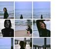 刘雯晒海边散步的美照,胳膊也太细了,整个人瘦得像平板