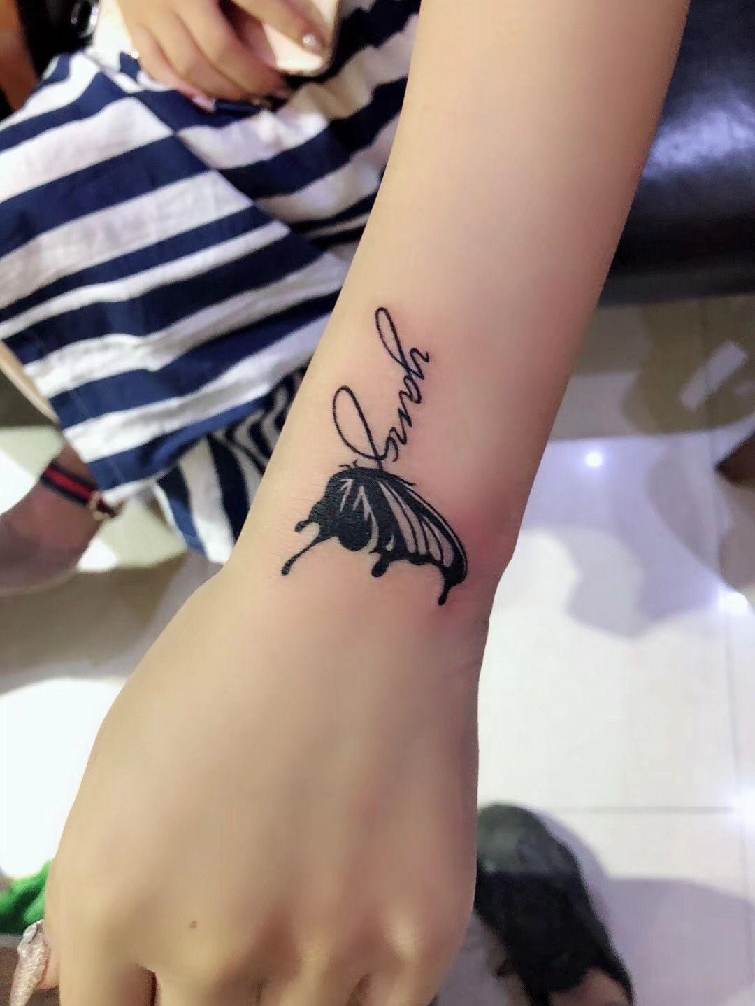 哈雷刺青纹身哈雷刺青纹身-3cm*3cm黑灰小清新(人气)图片
