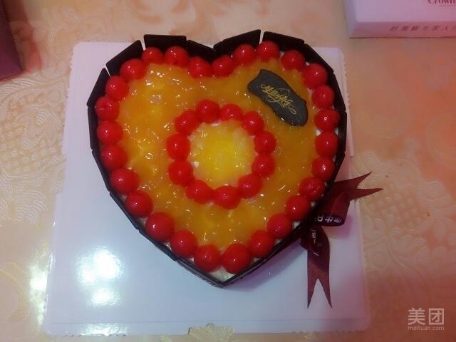 桃心巧克力-卡布贝诺蛋糕-美团