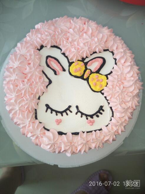 可爱兔子奶油蛋糕-甜悦烘焙坊-美团