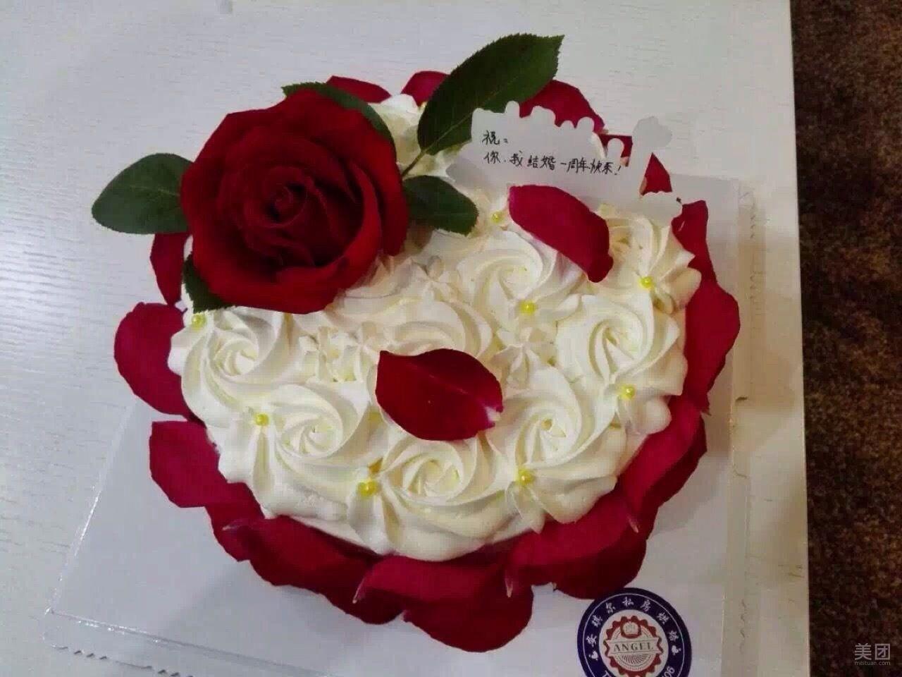 玫瑰风情蛋糕图片