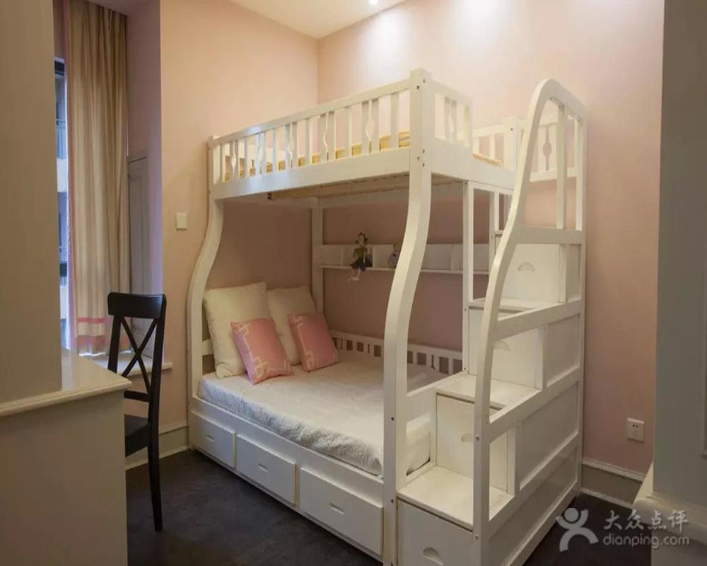 兄妹双人儿童房隔断装修设计