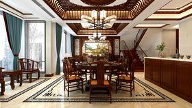 140平米別墅中式風格餐廳裝修圖片大全