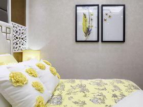90平米中式风格卧室效果图