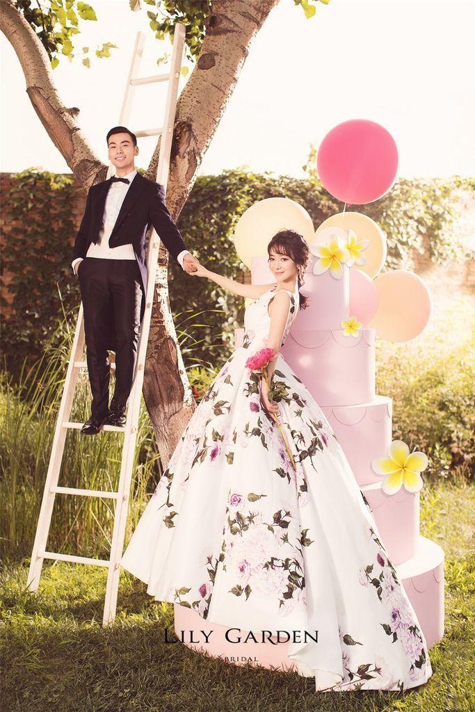 陈紫函和她的完美婚照礼服