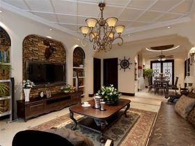 经济型140平米三室两厅美式风格客厅装修图片大全