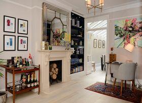 140平米三室两厅法式风格走廊装修图片大全