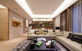 120平米三室两厅日式风格客厅图