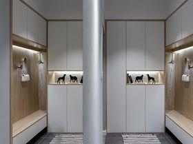 120平米三室两厅现代简约风格衣帽间装修图片大全