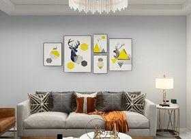 富裕型130平米三室一厅混搭风格客厅欣赏图