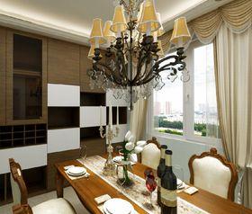80平米美式風格餐廳圖