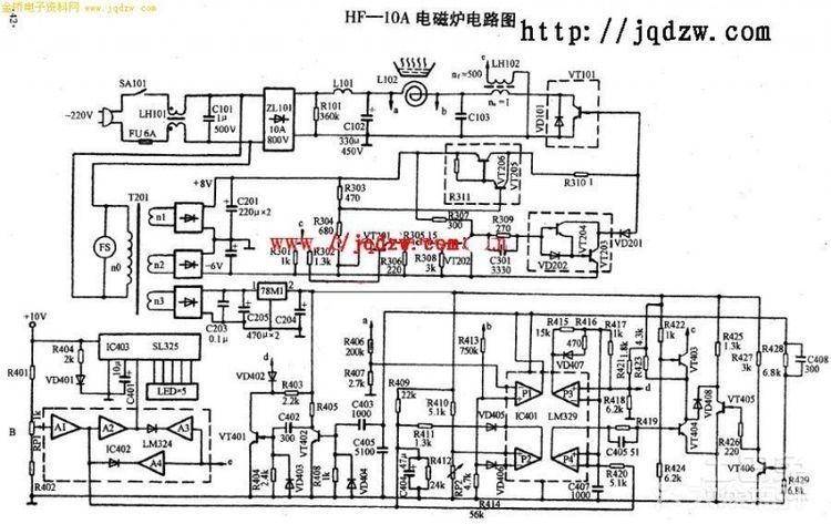 美的电磁炉电路图是怎样的