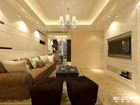 5-10万60平米现代简约风格客厅效果图