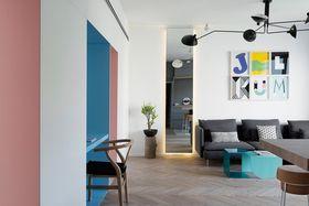 50平米公寓混搭风格客厅设计图