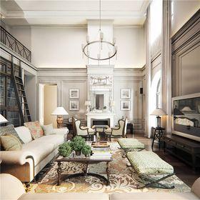 140平米復式美式風格客廳設計圖