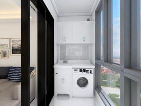 110平米三室一厅现代简约风格阳台装修效果图