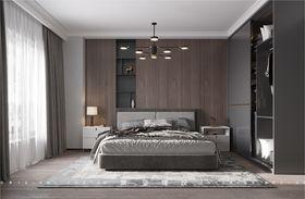 120平米三室一廳現代簡約風格臥室裝修案例