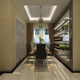 140平米三室兩廳現代簡約風格餐廳圖