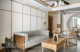 80平米三室两厅日式风格客厅图片