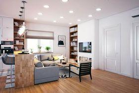 140平米三室一厅法式风格客厅欣赏图