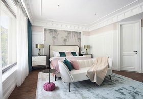 90平米三室兩廳美式風格臥室效果圖