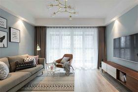 100平米北欧风格客厅图