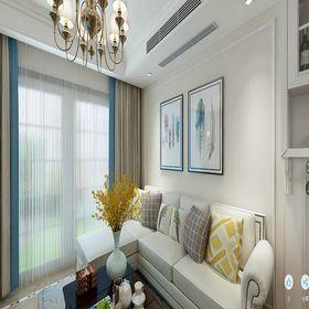 100平米复式美式风格客厅图