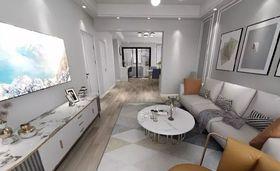 90平米現代簡約風格客廳圖片
