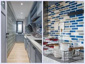 80平米三室两厅现代简约风格厨房图