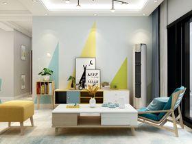 80平米三室一厅宜家风格客厅装修图片大全