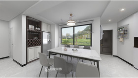 120平米三室兩廳現代簡約風格餐廳裝修效果圖