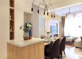 90平米三室一厅现代简约风格餐厅图片大全