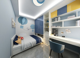 130平米四室两厅北欧风格儿童房效果图