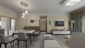 經濟型80平米三現代簡約風格客廳裝修圖片大全