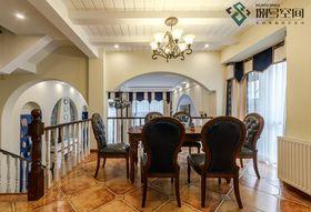 140平米别墅地中海风格餐厅图片