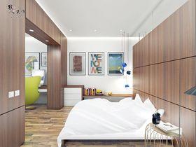 120平米三室两厅北欧风格卧室图片