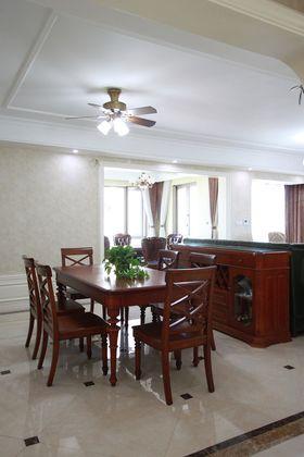 120平米三室两厅美式风格餐厅欣赏图