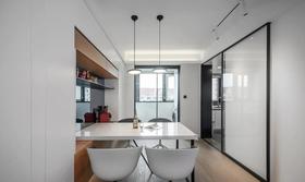 110平米三室兩廳現代簡約風格餐廳設計圖