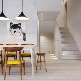 140平米复式北欧风格楼梯间装修效果图