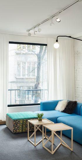 90平米三室两厅现代简约风格客厅图片大全