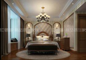 20万以上140平米三室三厅美式风格卧室图