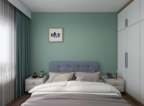 70平米三室兩廳北歐風格臥室圖