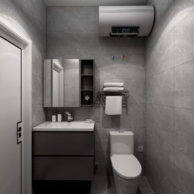 90平米中式风格卫生间设计图