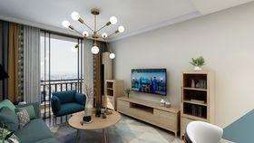 80平米复式现代简约风格客厅图