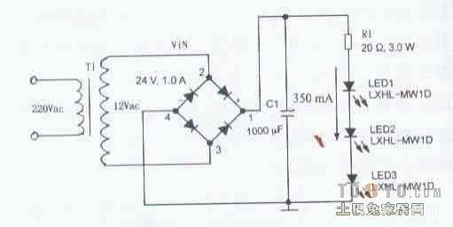 找一份led灯电源电路图
