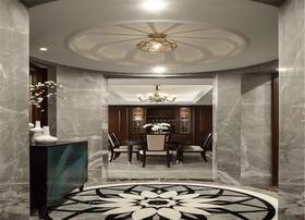 130平米三室两厅美式风格玄关图片大全