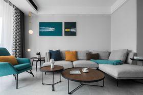 80平米現代簡約風格客廳圖片大全