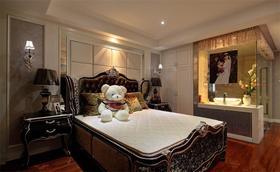 经济型140平米三室两厅欧式风格卧室装修案例