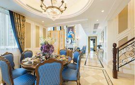 140平米复式英伦风格餐厅装修图片大全