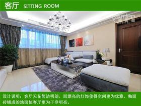 5-10万110平米现代简约风格客厅设计图